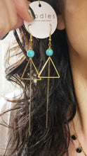 Load image into Gallery viewer, Triangle Duster Earrings