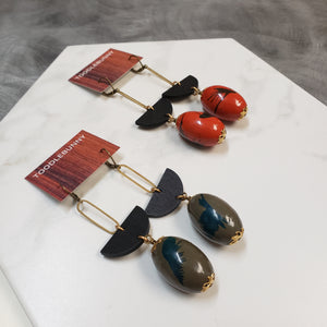 Geometric splash drop earrings