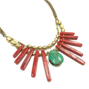 Coral Collar Necklace