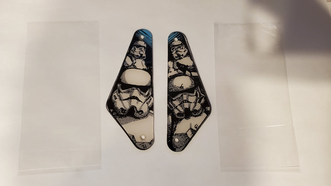 Star Wars Data East Slingshot Plastics Left and Right