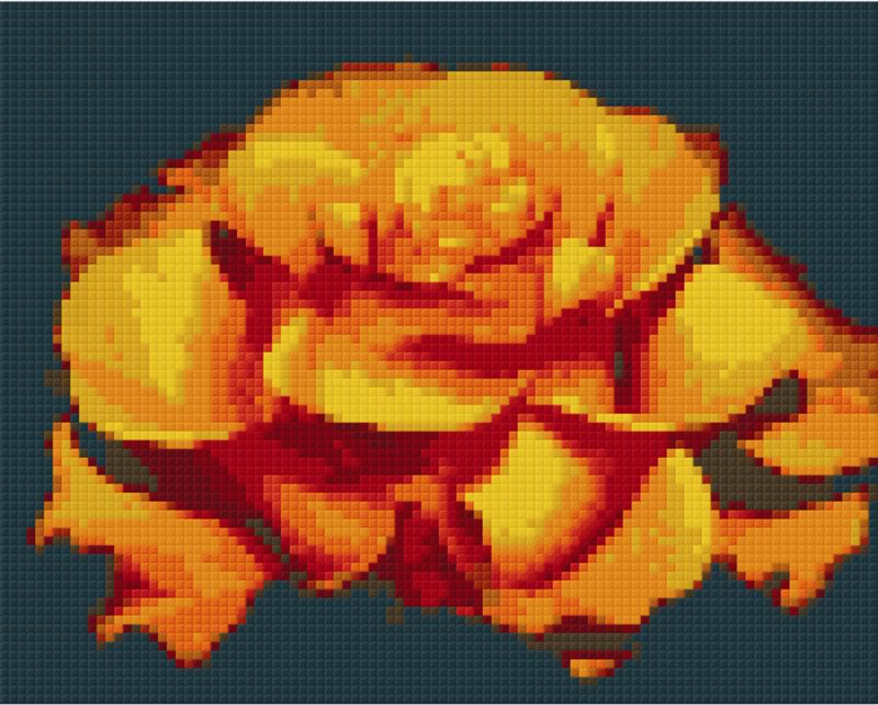 Pixelhobby Klassik Set - Orange Rose