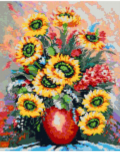 Pixelhobby Klassik Set - Colorfully Sunflower Pot