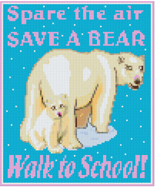 Pixelhobby Klassik Set - Save a Bear rose