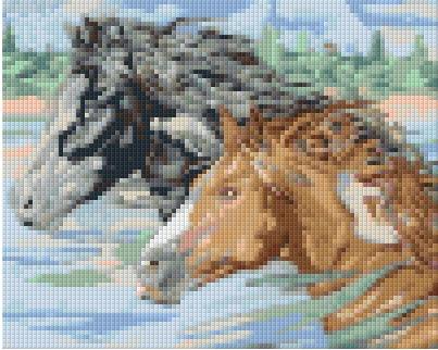 Pixelhobby Klassik Set - Swimming Horses
