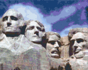 Pixel Klassik Set - Mount Rushmore