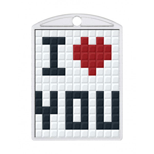 Pixelhobby Medaillon Set - I love You