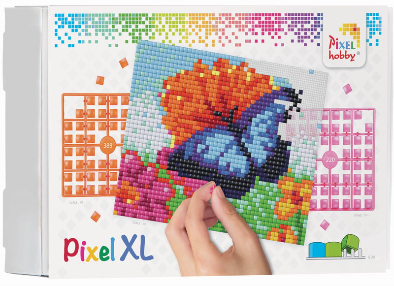 Pixelhobby XL 4BP Set - blauer Schmetterling