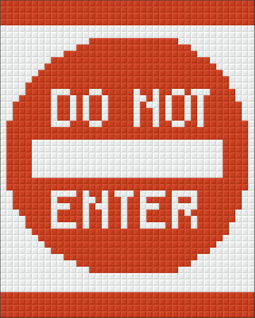 Pixel Klassik Set - Do not Enter
