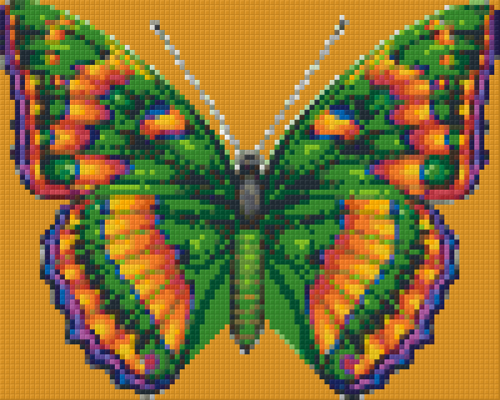 Pixelhobby Klassik Set - bunter Schmetterling