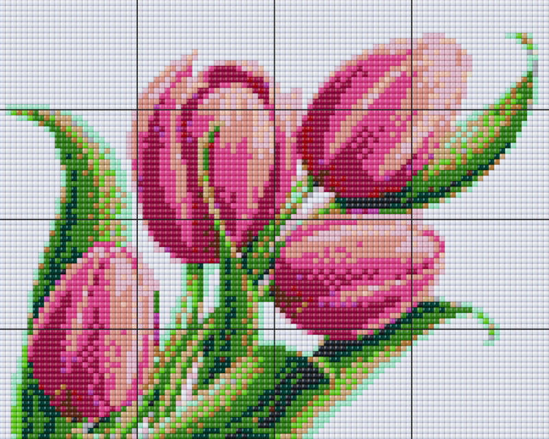 Pixelhobby BIG XL Set - Tulpen