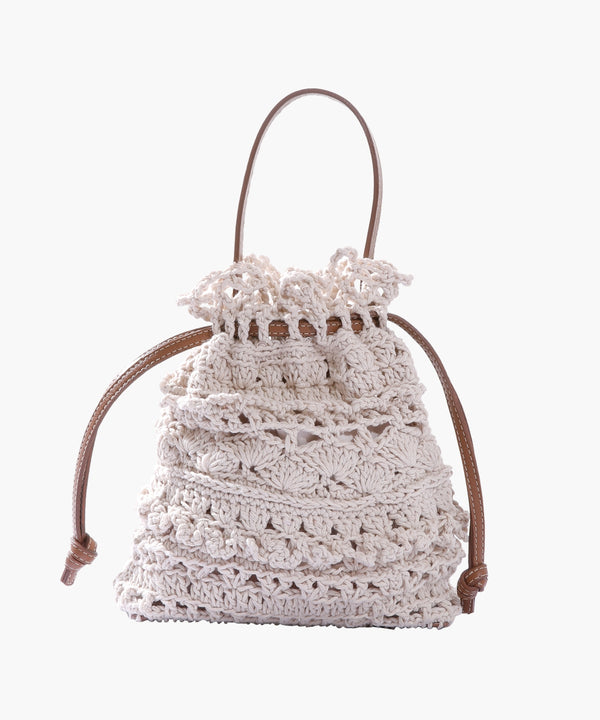 La Rossy Mini in Leather and Crochet
