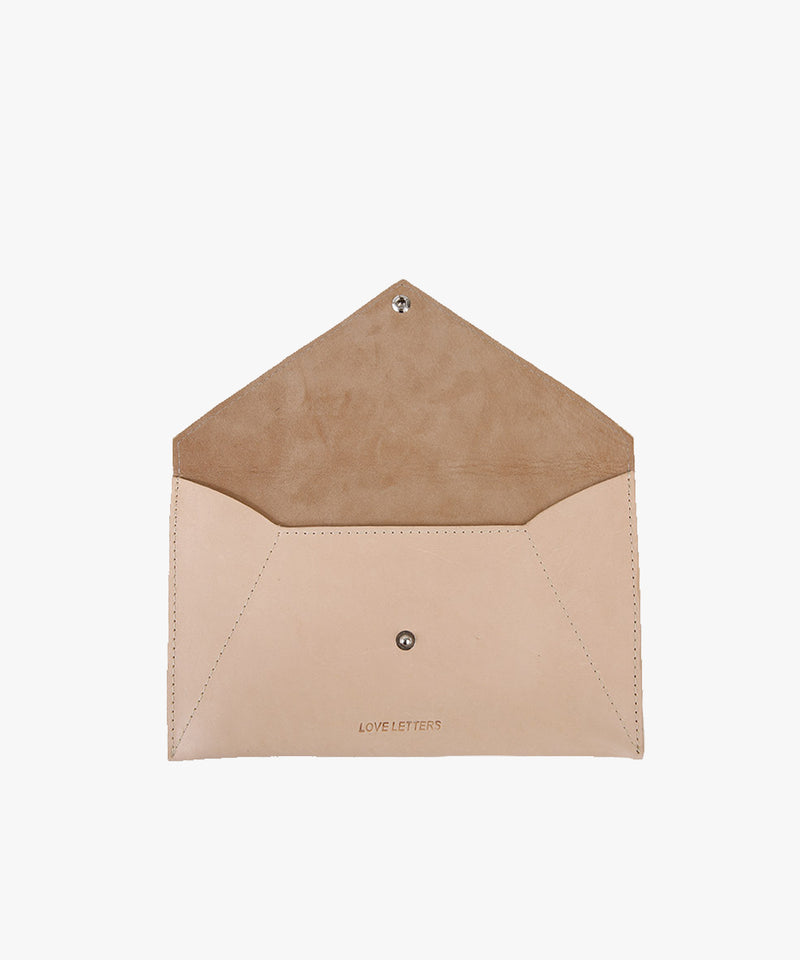 Love Letters Envelope in Leather