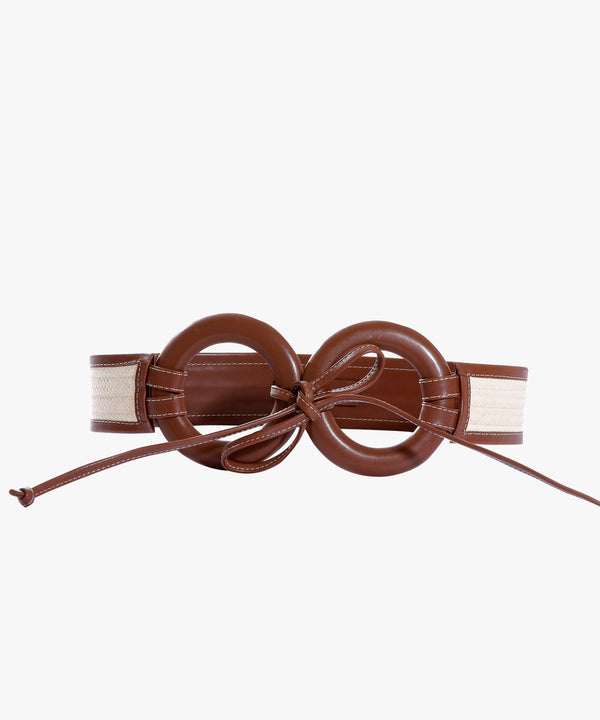 Zenú Belt in Leather and Caña Flecha