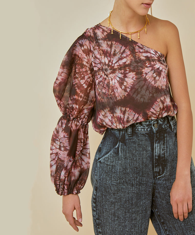Lahaina One-Shoulder Blouse