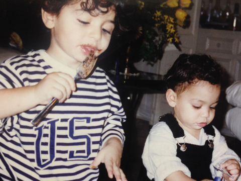 Zwïta co-founders Mansour Arem and Karim Arem as babies