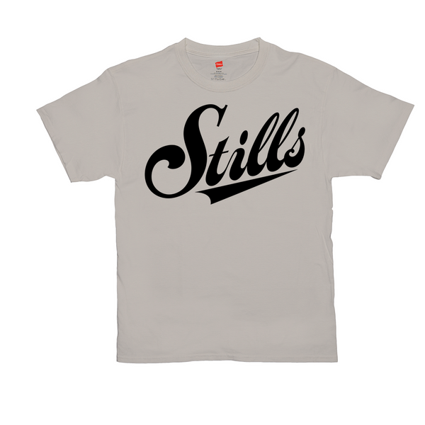 Stills Script Logo T-Shirts (Sand or White)