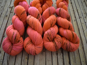 Summer Dreams - BFL Sock, hand dyed.