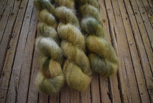 Oak Forest - Silky Mohair, hand dyed.