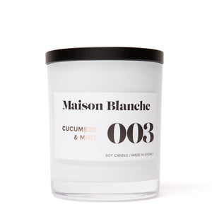 003 Cucumber & Mint Large Soy Candle 400g
