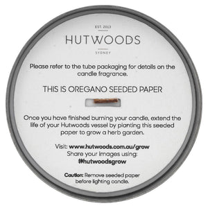 Hutwoods candle seeded paper