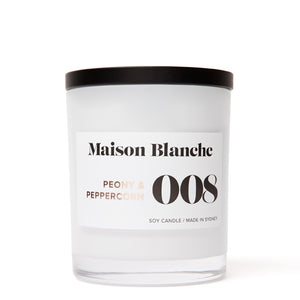 008 Peony & Peppercorn Large Soy Candle 400g