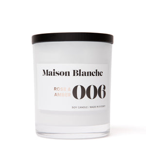 006 Rose & Amber Large Soy Candle 400g