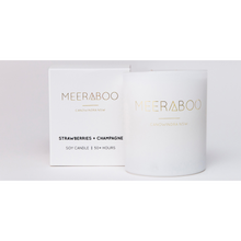 Load image into Gallery viewer, Meeraboo candles matte white jar and gift box