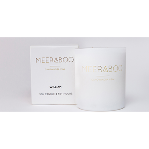 Meeraboo white matte jar candle and gift box