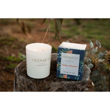 Load image into Gallery viewer, Australian soy candle banksia and bergamot scented candle by Meeraboo.