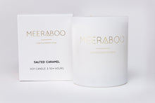 Load image into Gallery viewer, Meeraboo scented candle white jar salted caramel