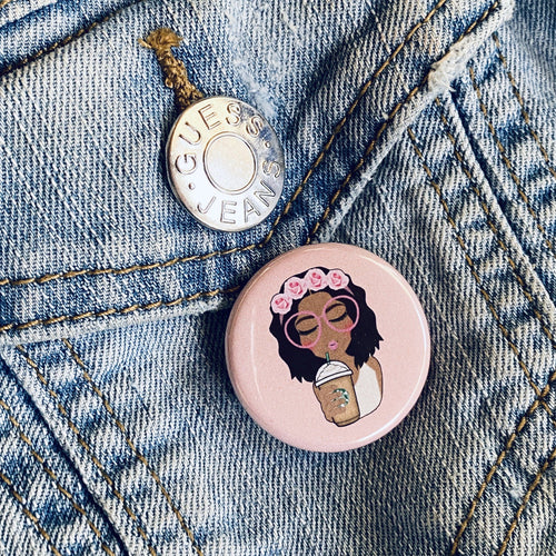 Melanin Coffee Button - Culture Vibes