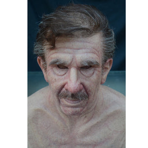 Halloween wig old man mask (party horror simulation headgear)