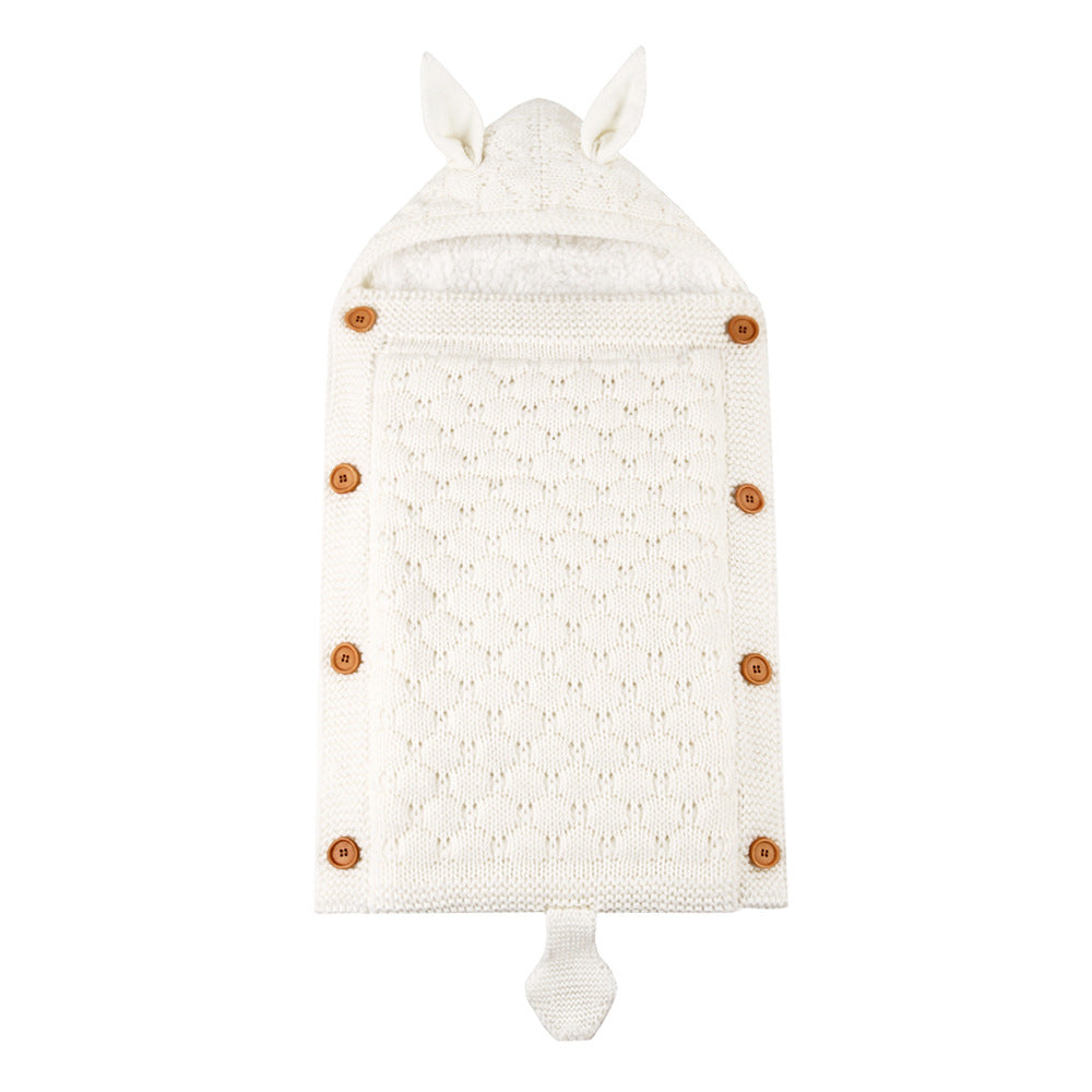 (New product)Baby Sleeping Bag Knitted Crochet Winter Sleeping Bag