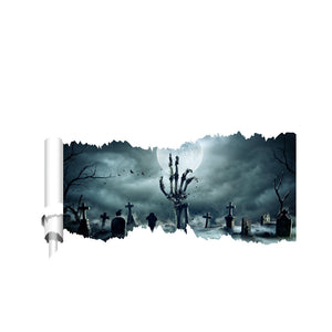 Halloween 3D Ghost Scary Wall Sticker Removable Art Mural Party Decoration