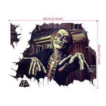 Laden Sie das Bild in den Galerie-Viewer, Halloween 3D Ghost Scary Wall Sticker Removable Art Mural Party Decoration