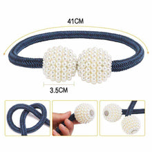 Laden Sie das Bild in den Galerie-Viewer, Hirundo Pearl Curtain Tiebacks with Strong Magnetic Clips, 2 pcs