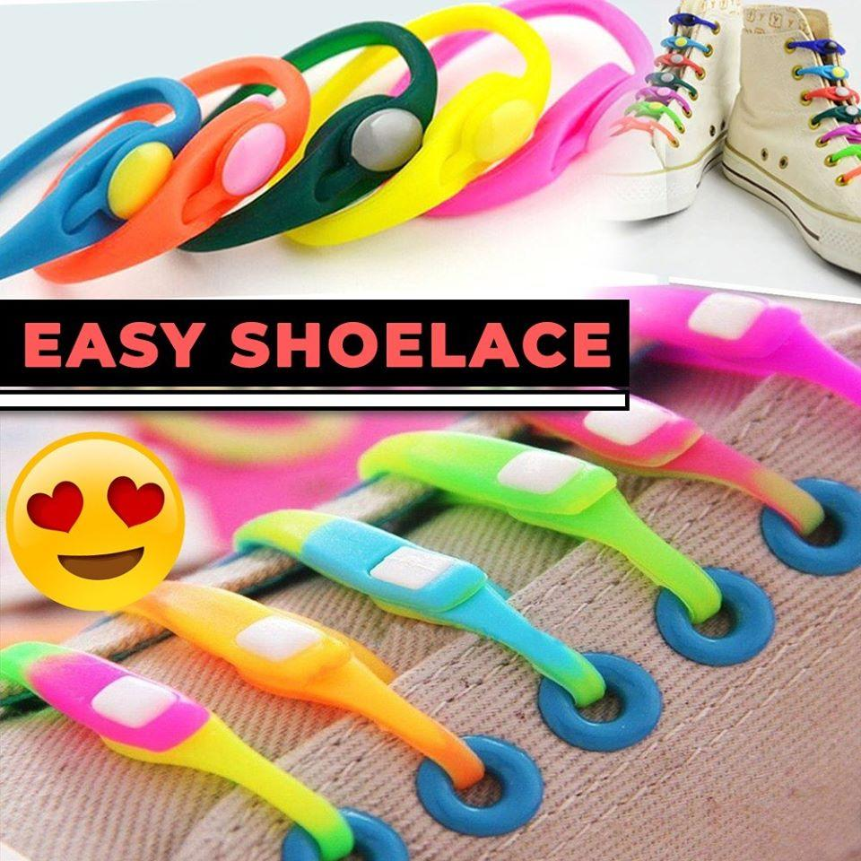 Simple shoelaces (One color / bag / 12pcs)
