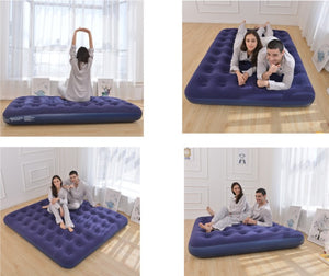 INTEX blue corduroy pull single double triple inflatable bed