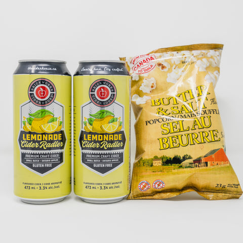 Lemonade Radler + Popcorn Bundle