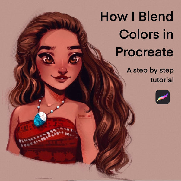How I Blend Colors in Procreate: A step by step tutorial for Beginners