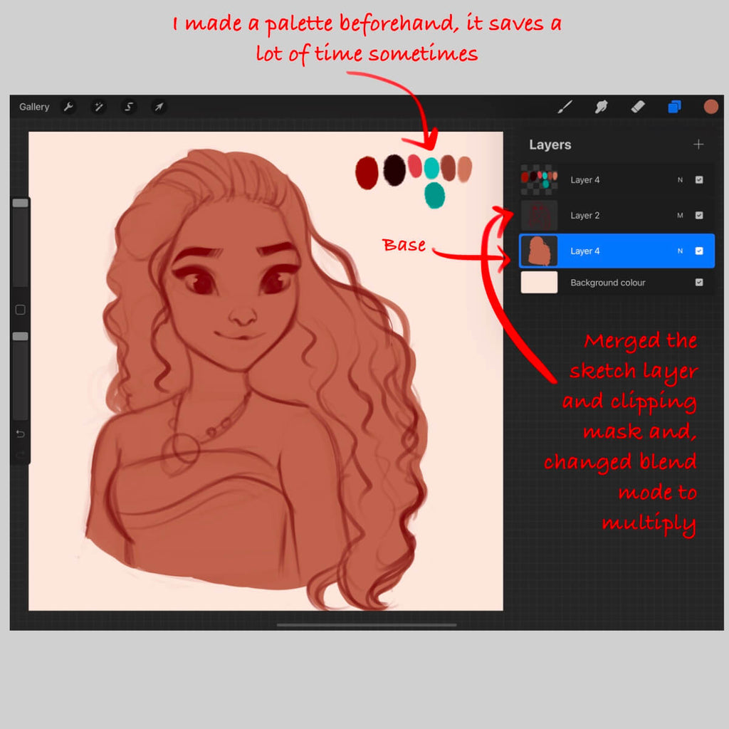How to blend in Procreate