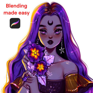 Must Have Procreate  Blending Brushes for effective and easy blending(included in my Procreate Painting Set)