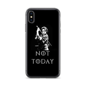 Game of thrones Arya Stark Not Today iPhone Case - MuzenikArt