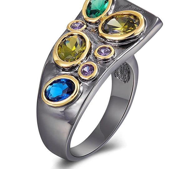 Art Deco Gemstone Ring