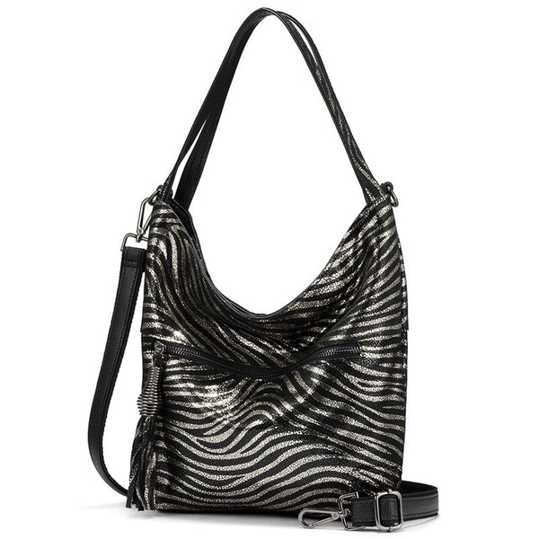 Vivian  Animal Print Leather Shoulder Bag