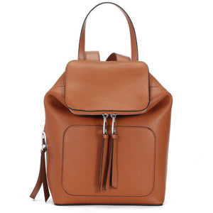 Mia Leather Backpack Brown