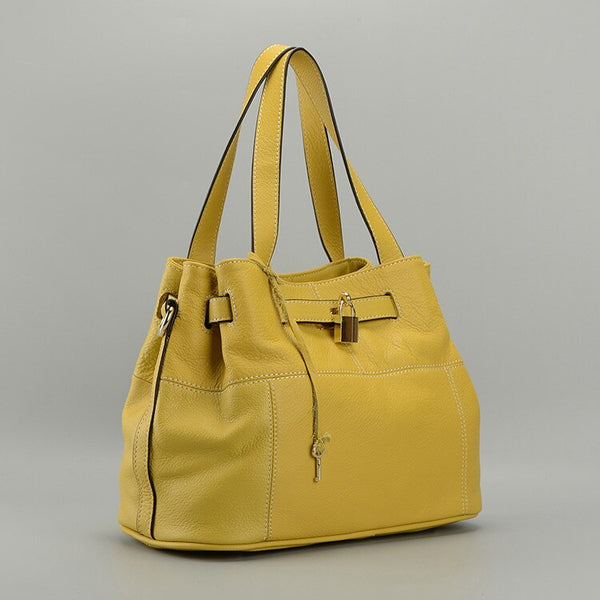 Parker Leather Handbag Yellow