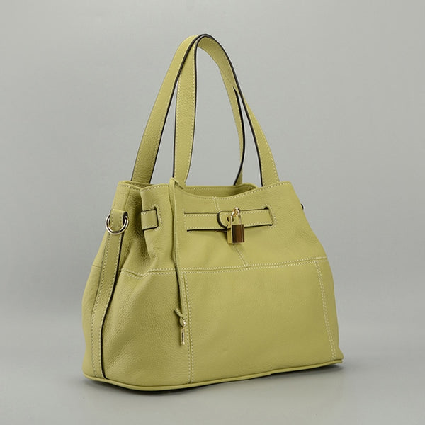 Parker Leather Handbag Grass Green