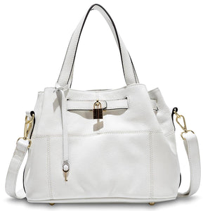 Parker Leather Handbag White