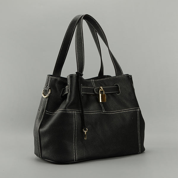 Parker Leather Handbag Black